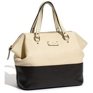 Kate Spade Grove Court Blaine Satchel Cream Black